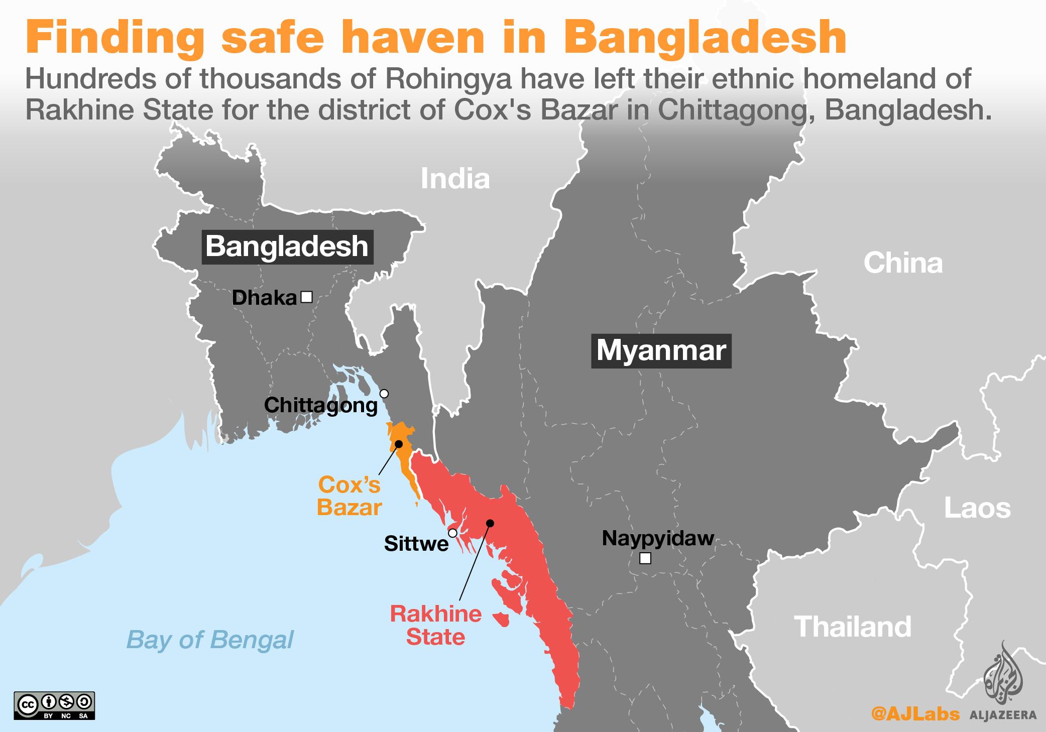 Rohingya location