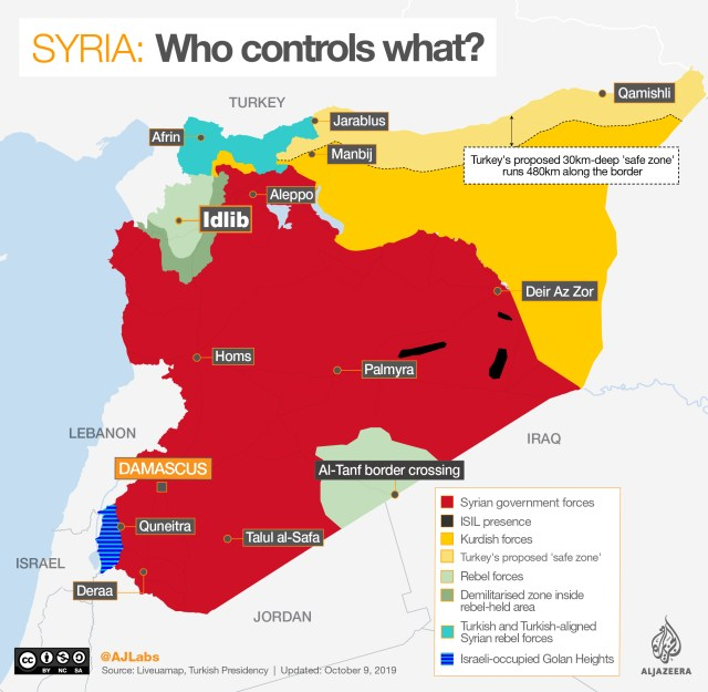 INTERACTIVE: Syria control map OCT 9 2019