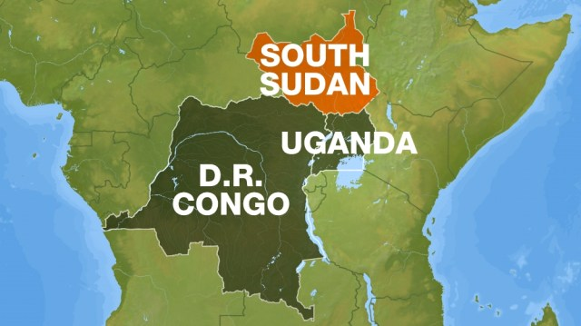 Web map - South Sudan, DRC, Uganda