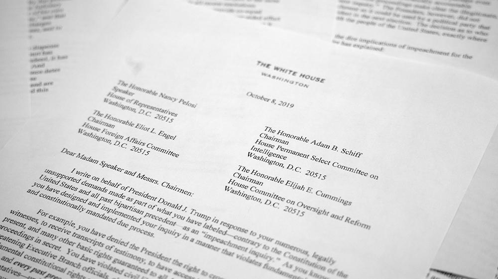 Trump White House letter
