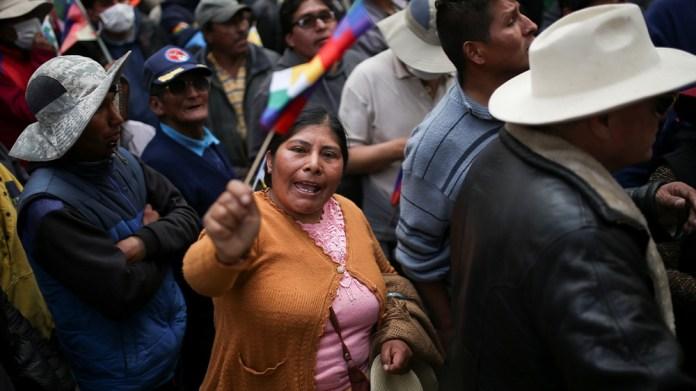 Bolivia Morales supporter