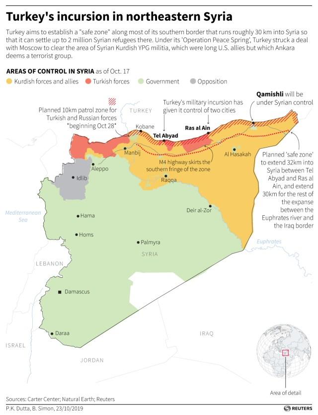 Map Syria safe zone