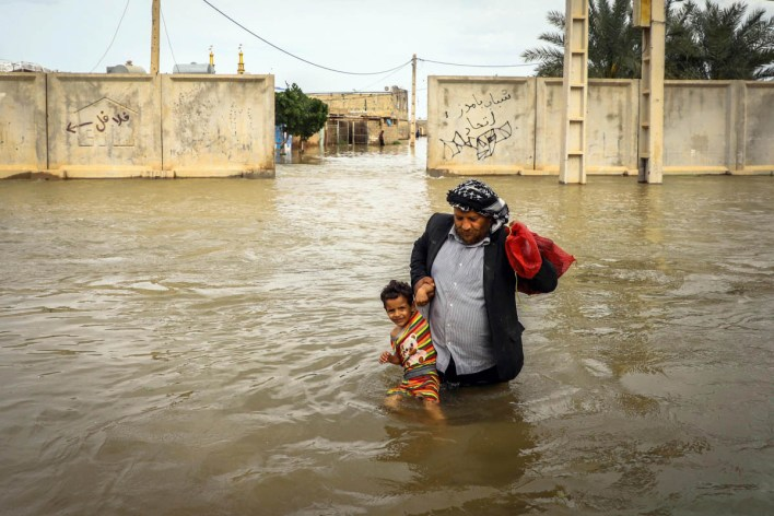 The flooding has affected at least 26 of Iran's 31 provinces. [Mehdi Pedramkhoo/EPA]