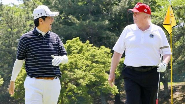 Japan Abe Trump golf