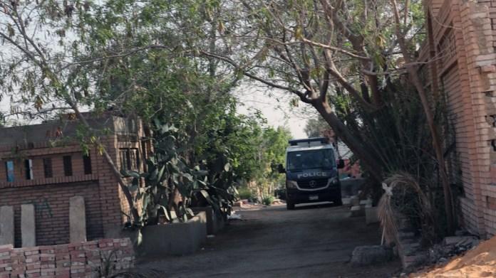 vehicle guard the cemetery were former Egyptian President Mohamed Morsi