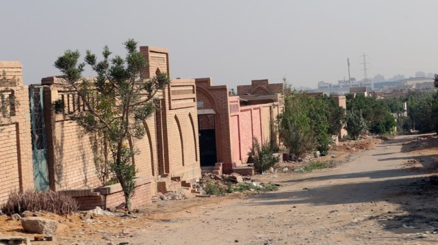 Al-Wafaa Wa al-Amal cemetery after former Egyptian President Mohamed Morsi