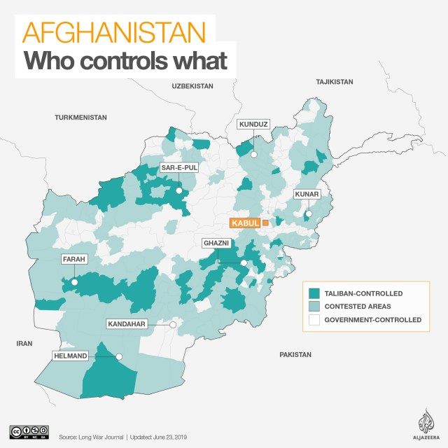 INTERACTIVE: Afghanistan control map - June 23, 2019