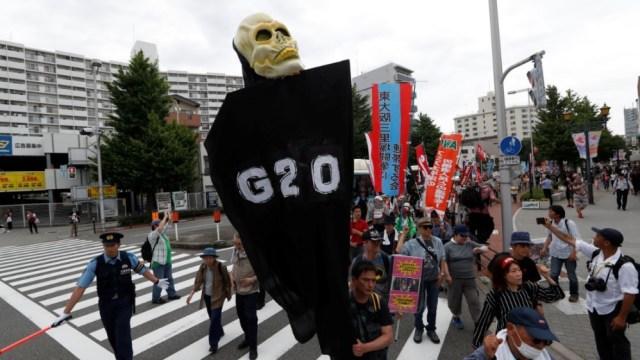 G20 protest Osaka, Japan