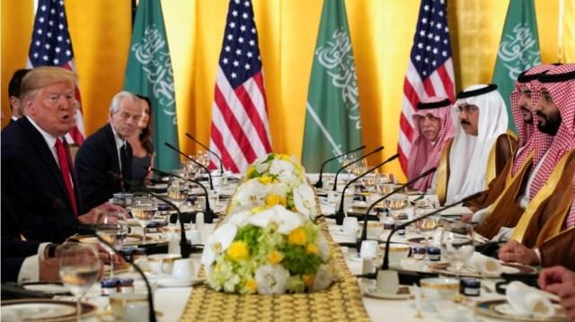Trump and Mohammed bin Salman at G20 Summit, Japan
