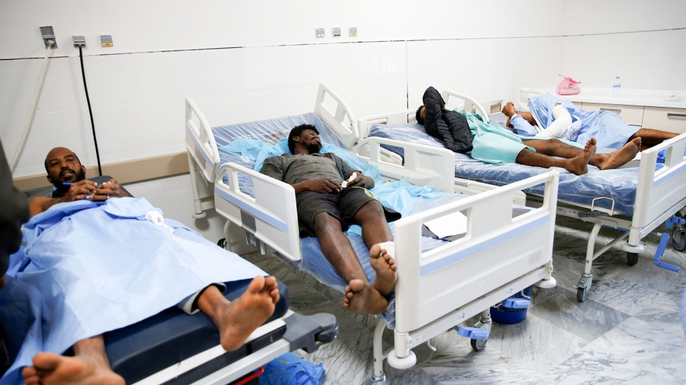 Wounded migrants lie on hospital beds after an air strike hit a detention center for mainly African migrants in Tajoura, in Tripoli Central Hospital, Libya July 3, 2019. REUTERS/Ismail Zitouny