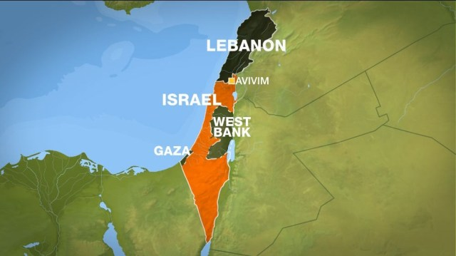 Map Israel Lebanon