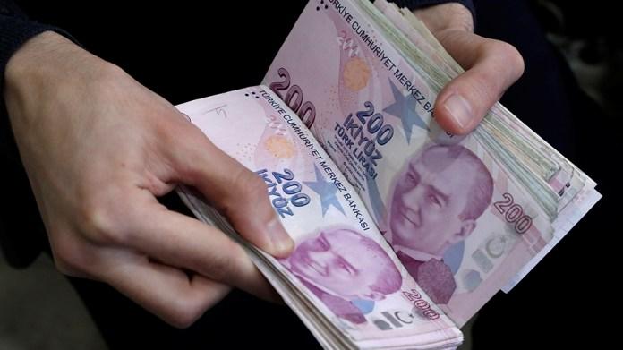 Turkish lira stock image