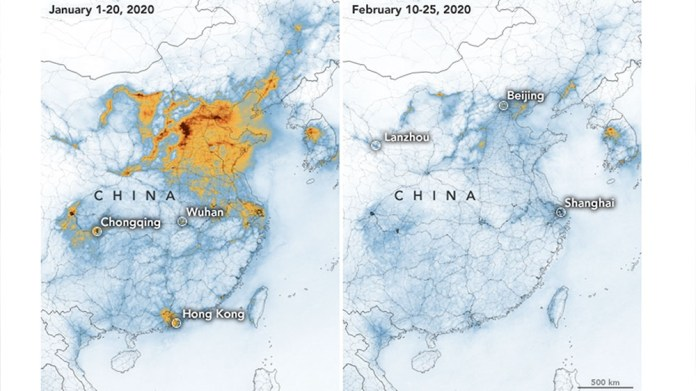 Coronavirus linked to improved air quality in China