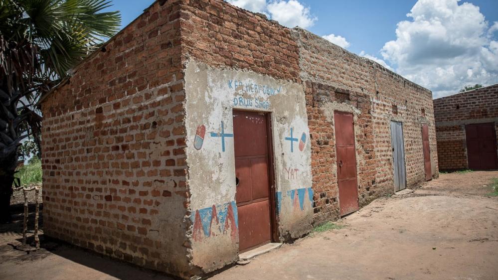 A drug store in Gulu district, northern Uganda. [Sally Hayden/Al Jazeera]