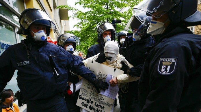 Coronavirus restrictions protested in Germany