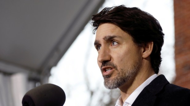 Canada's Prime Minister Justin Trudeau speaks during a news conference in Ottawa