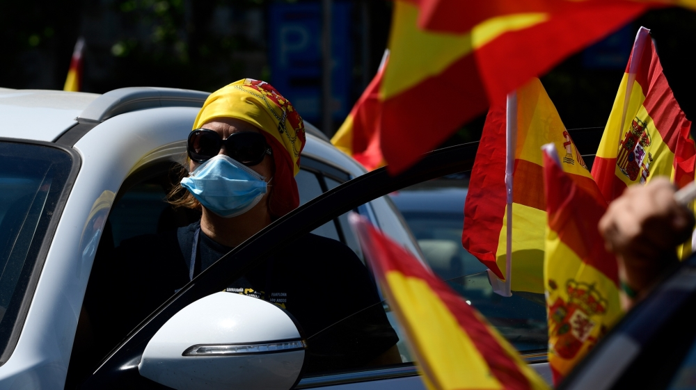 Madrid Spain protest Vox