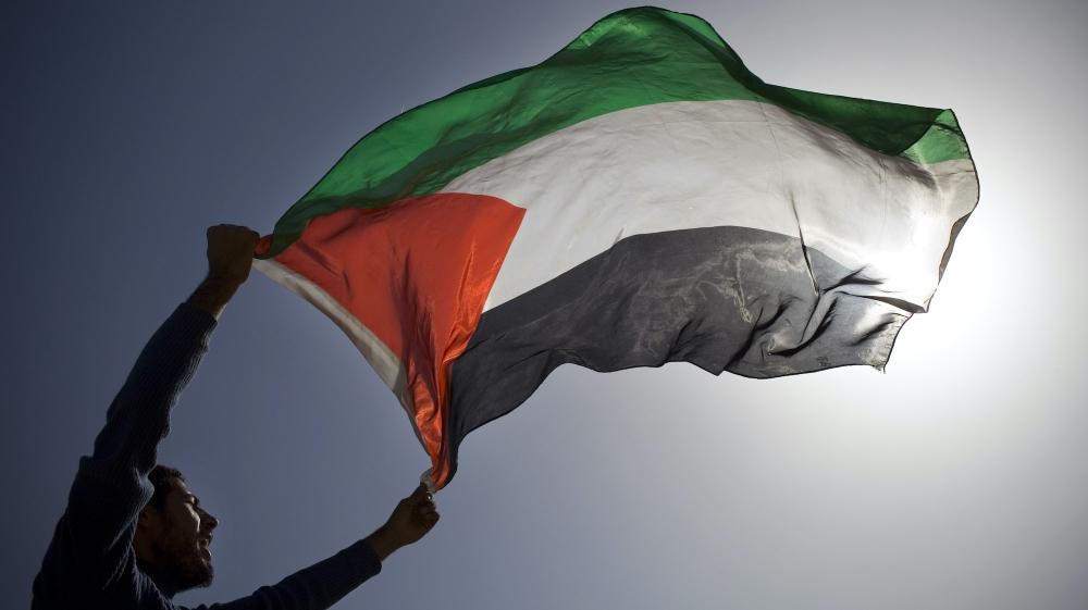 فلسطین کا پرچم اے پی فوٹو