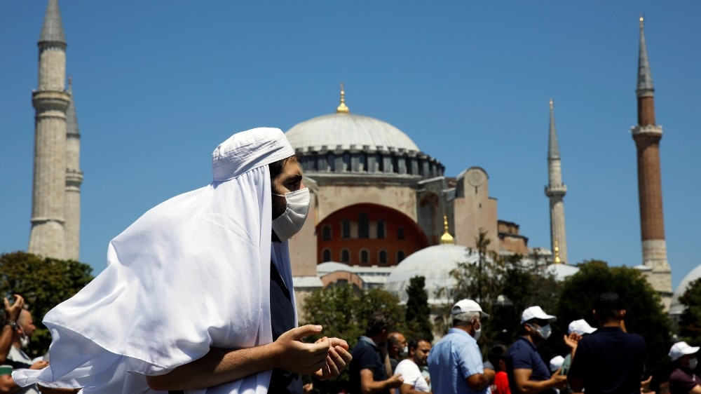In Pictures Hagia Sophia Opens As Mosque For Muslim Prayers View Orbit