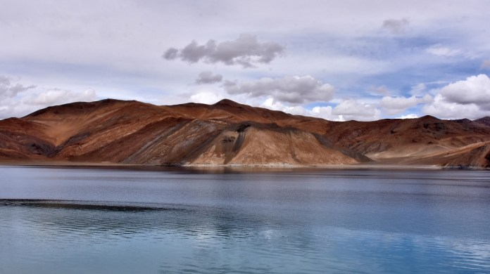 A view of Pangong Tso lake in Ladakh region