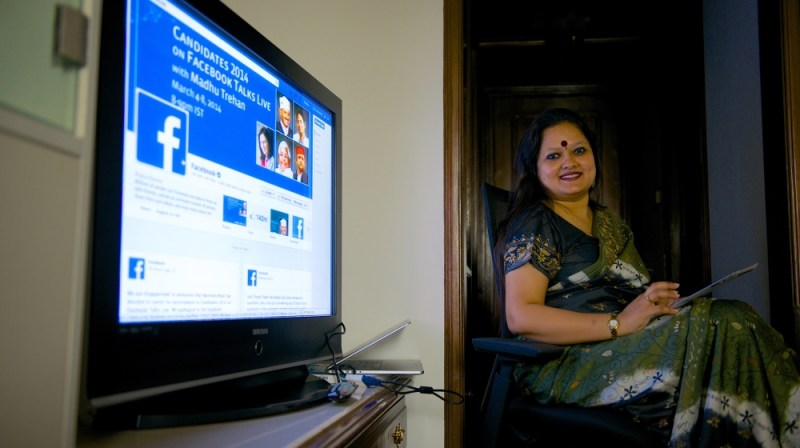 Ankhi Das, Public Policy Director, Facebook India and South & Central Asia, during an interview at her office on March 3, 2014 in New Delhi, India. (Photo by Priyanka Parashar/Mint via Getty Images)