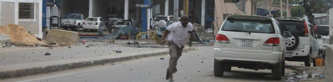 Al Shabaab group, which frequently carries out attacks in the capital in its bid to topple the Western-backed government, claimed responsibility for the attack  [Abdirizak Tuuryare]