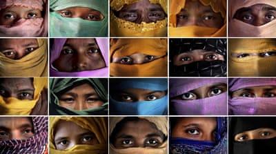 Die Vergewaltigung der Rohingya-Frauen durch die Armee, fegend, methodisch: AP