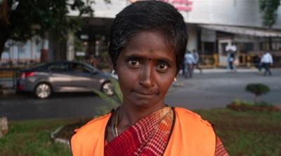 Bhima Valmiki is among the 6,500 contract workers employed by the MCGM to pick up garbage from the streets. She gets paid Rs 250 as daily wage, much below Rs 625 stipulated by Mahrashtra state governm
