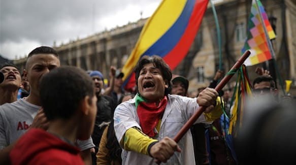 Clashes in Colombia as protests against police go into second day