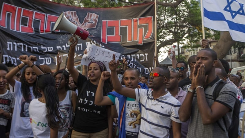 Image result for ethiopians demonstrate racism