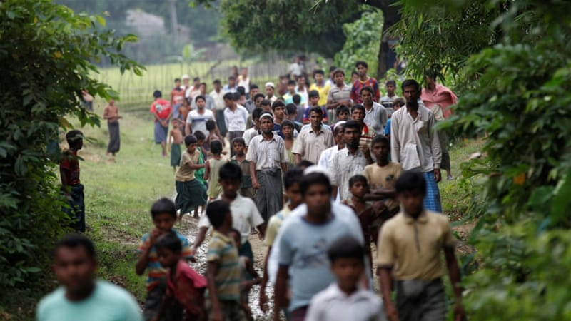 Rohingya civilians have been displaced by a crackdown following the October 9 attacks [AP]