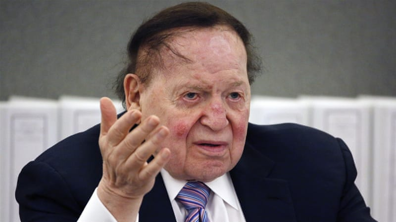 Sheldon Adelson (AP photo via Al Jazeera)