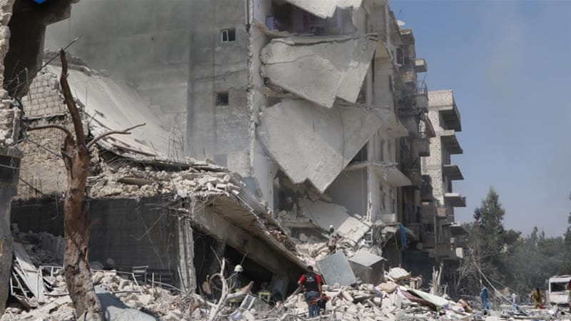Activists said at least 62 civilians have been killed in Aleppo since Thursday [White Helmets]