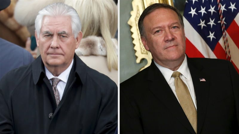 Image result for photos of cia pompeo and rex tillerson