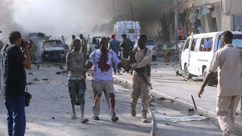 Massive car bomb blast rocks Somalia's Mogadishu