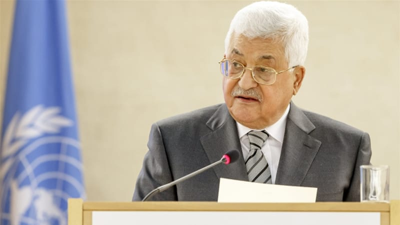 Abbas told delegates: 'Palestine today is a truth, a reality anchored in history' [EPA]