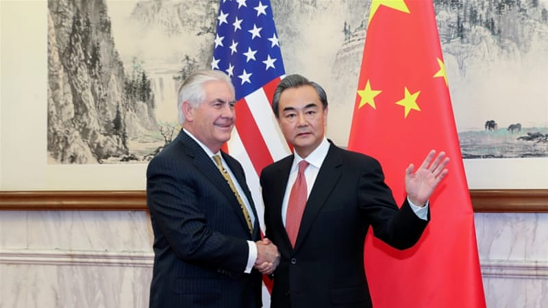 Image result for photos of tillerson in china