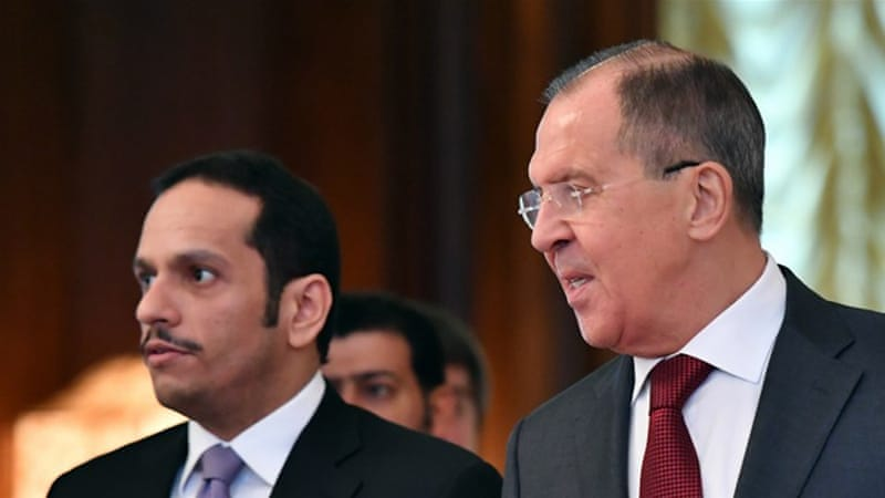 Qatar's foreign minister is in Russia for talks on the Qatar-GCC rift [AFP]