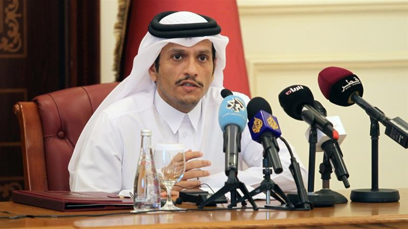 Sheikh Mohammed bin Abdulrahman Al Thani says the blockading nations' plan is to 'disrespect and bully' [Naseem Zeitoon/Reuters]