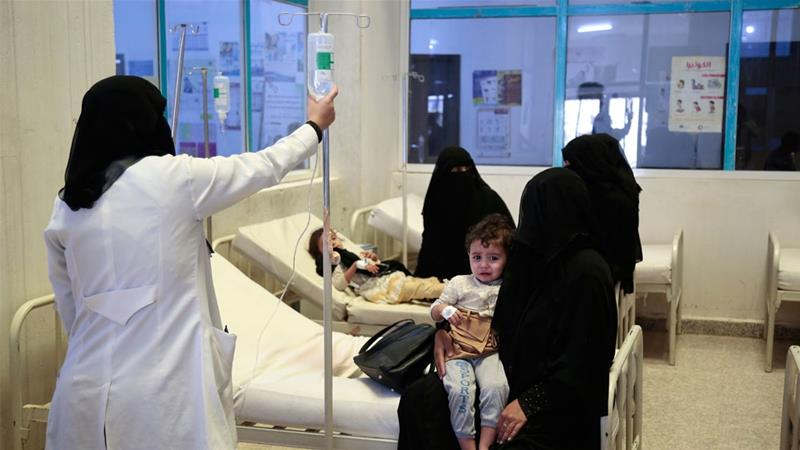 The cholera outbreak in Yemen has been described as the worst ever on record [File: Hani Mohammed/AP]