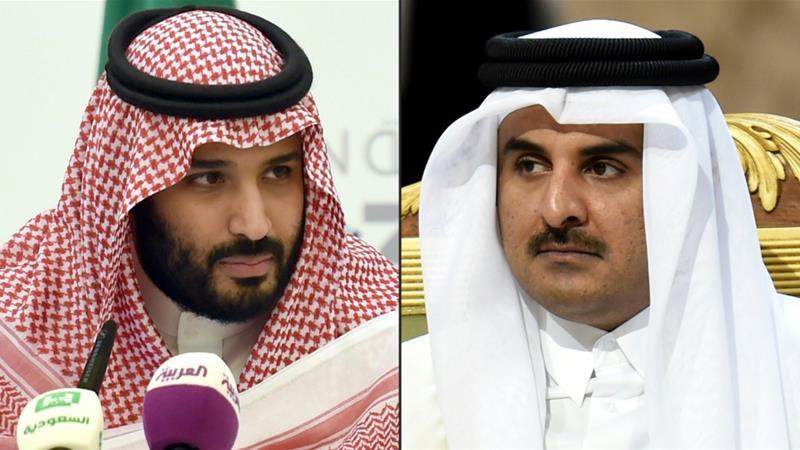 Mohammed bin Salman and Sheikh Tamim bin Hamad Al Thani [Getty]