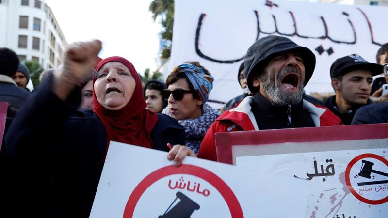 Protesters have been demonstrating against a government decision to impose strict economic and tax reforms [photo by Zoubeir Souissi/Reuters]