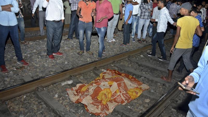 Dozens were feared dead after a train ran over a crowd in Amritsar, northern India [AP Photo/Prabhjot Gill]