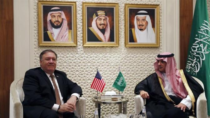 US Secretary of State Mike Pompeo met with his Saudi counterpart in Riyadh on October 16 [File: Leah Millis/AP]