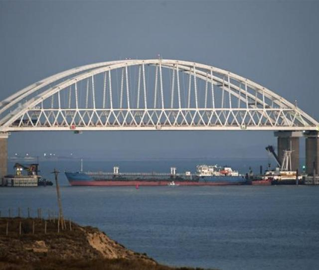 Moscow Placed A Large Cargo Ship Beneath The Crimean Bridge Blocking The Only Passage Into