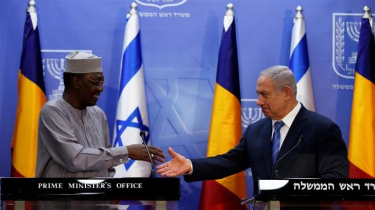 Netanyahu (right) hosted Chadian President Idriss Deby in Jerusalem November 25 [File: Ronen Zvulun/Reuters]