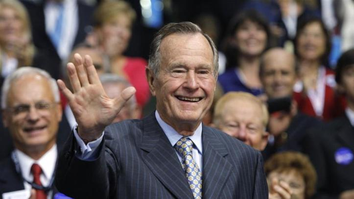 George HW Bush died about eight months after the death of his wife Barbara Bush [File: Shannon Stapleton/Reuters]