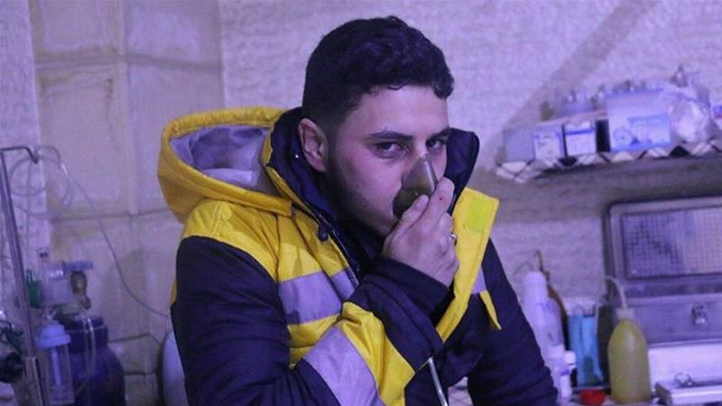 White Helmets claimed that volunteer Bilal Bayram was among the victims who was suffocated [Courtesy: White Helmets]