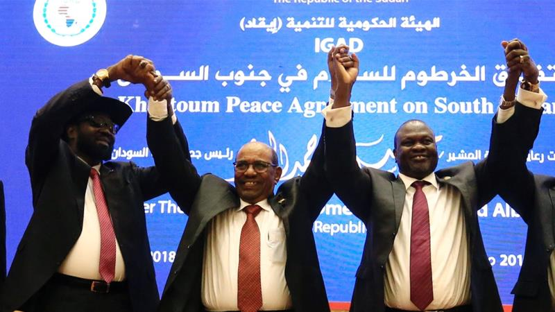 South Sudan President Salva Kiir and his rival Riek Machar have agreed to a 'permanent' ceasefire on June 27 [Reuters]