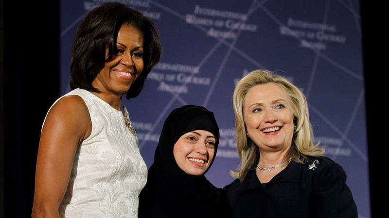 Badawi has received the United States' International Women of Courage Award in 2012. [Gary Cameron/Reuters File Photo]
